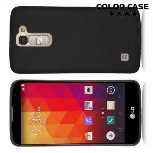 Силиконовый чехол для LG K8 K350E - Матовый Черный