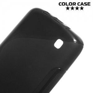 Силиконовый чехол для LG K8 K350E - S-образный Черный