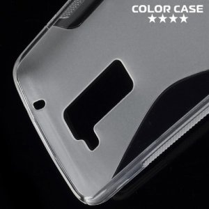 Силиконовый чехол для LG K8 K350E - S-образный Прозрачный
