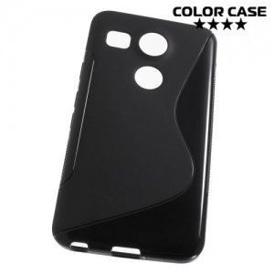Силиконовый чехол для LG Nexus 5X - S-образный Черный