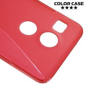 Силиконовый чехол для LG Nexus 5X - S-образный Красный