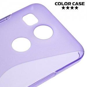 Силиконовый чехол для LG Nexus 5X - S-образный Фиолетовый