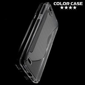 Силиконовый чехол для LG Q6 M700AN / Q6a M700 - S-образный Прозрачный
