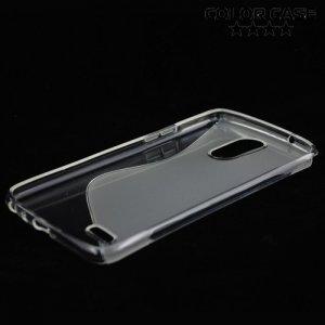 Силиконовый чехол для LG Stylus 3 M400DY - S-образный Прозрачный