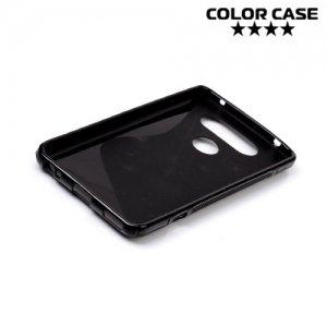 Силиконовый чехол для LG V20 - S-образный Черный