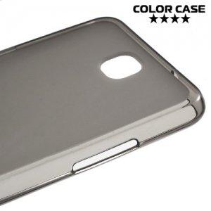 Силиконовый чехол для LG X view - Матовый Черный