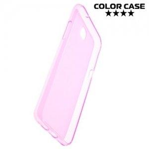Силиконовый чехол для LG X view - Матовый Розовый