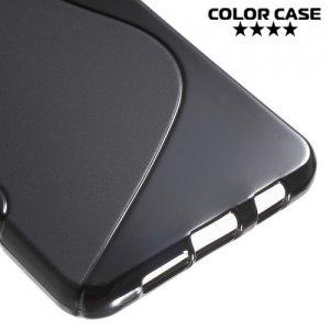 Силиконовый чехол для Samsung Galaxy A3 2016 SM-A310F - S-образный Черный