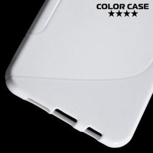 Силиконовый чехол для Samsung Galaxy A3 2016 SM-A310F - S-образный Белый