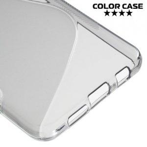 Силиконовый чехол для Samsung Galaxy A3 2016 SM-A310F - S-образный Серый