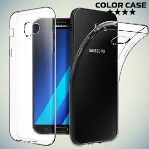 Силиконовый чехол для Samsung Galaxy A3 2017 SM-A320F - Глянцевый Прозрачный