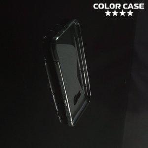 Силиконовый чехол для Samsung Galaxy A3 2017 SM-A320F - S-образный Черный