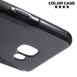 Силиконовый чехол для Samsung Galaxy A5 2016 SM-A510F - S-образный Черный
