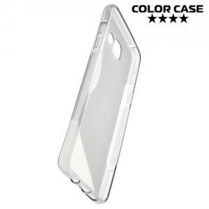 Силиконовый чехол для Samsung Galaxy A5 2016 SM-A510F - S-образный Серый