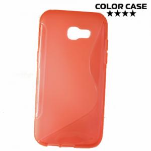 Силиконовый чехол для Samsung Galaxy A5 2017 - S-образный Красный
