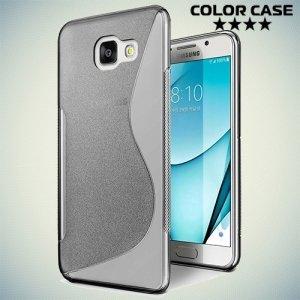 Силиконовый чехол для Samsung Galaxy A3 2017 SM-A320F - S-образный Серый