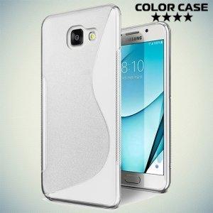 Силиконовый чехол для Samsung Galaxy A3 2017 SM-A320F - S-образный Прозрачный
