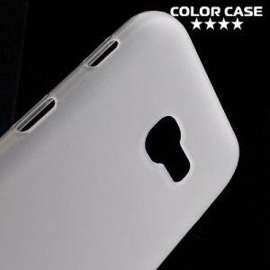 Силиконовый чехол для Samsung Galaxy A5 2017 SM-A520F - Матовый Белый