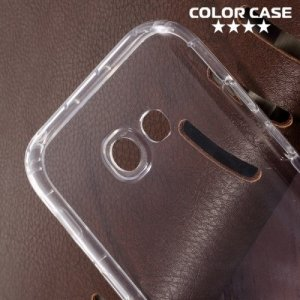 Силиконовый чехол для Samsung Galaxy A5 2017 SM-A520F противоударный - Прозрачный