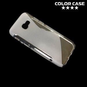 Силиконовый чехол для Samsung Galaxy A5 2017 SM-A520F - S-образный Прозрачный
