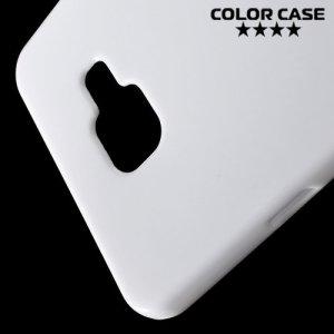 Силиконовый чехол для Samsung Galaxy A7 2016 SM-A710F - Глянцевый Белый