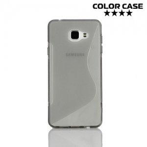 Силиконовый чехол для Samsung Galaxy A7 2016 SM-A710F - S-образный Серый
