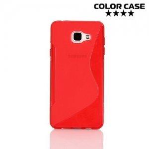 Силиконовый чехол для Samsung Galaxy A7 2016 SM-A710F - S-образный Красный