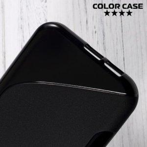 Силиконовый чехол для Samsung Galaxy A7 (2017)  - S-образный Черный