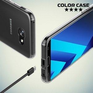 Силиконовый чехол для Samsung Galaxy A7 2017 SM-A720F - Глянцевый Прозрачный