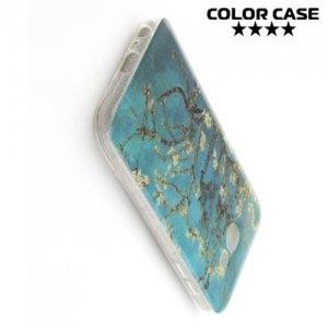 Силиконовый чехол для Samsung Galaxy A7 2017 SM-A720F - с рисунком Миндальное дерево
