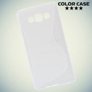 Силиконовый чехол для Samsung Galaxy A7 - S-образный Белый