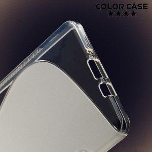 Силиконовый чехол для Samsung Galaxy A7 - S-образный Прозрачный