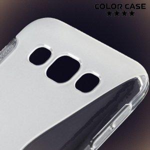 Силиконовый чехол для Samsung Galaxy E5 - S-образный Прозрачный