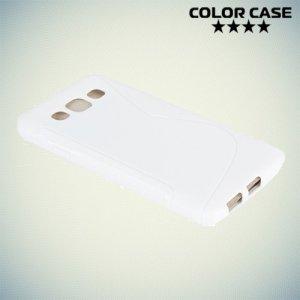 Силиконовый чехол для Samsung Galaxy E5 - S-образный Белый