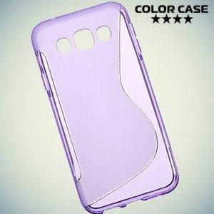 Силиконовый чехол для Samsung Galaxy E5 - S-образный Фиолетовый