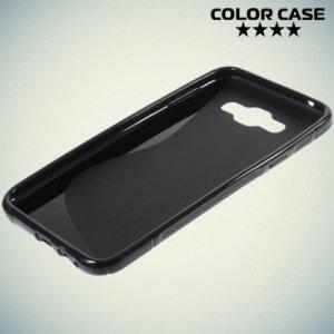 Силиконовый чехол для Samsung Galaxy E7 - S-образный Черный