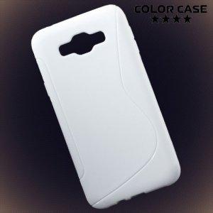 Силиконовый чехол для Samsung Galaxy E7 - S-образный Белый