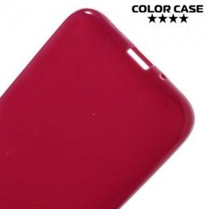 Силиконовый чехол для Samsung Galaxy J1 2016 SM-J120F - Глянцевый Красный