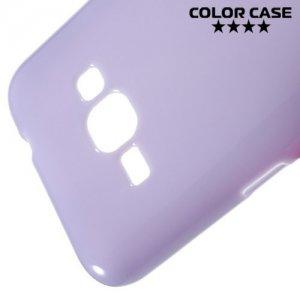 Силиконовый чехол для Samsung Galaxy J1 2016 SM-J120F - Глянцевый Фиолетовый