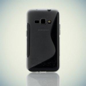 Силиконовый чехол для Samsung Galaxy J1 2016 SM-J120F - S-образный Прозрачный