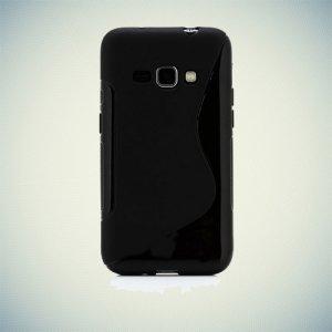 Силиконовый чехол для Samsung Galaxy J1 2016 SM-J120F - S-образный Черный