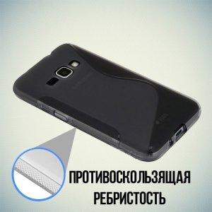 Силиконовый чехол для Samsung Galaxy J1 2016 SM-J120F - S-образный Серый