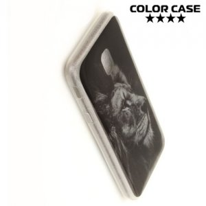 Силиконовый чехол для Samsung Galaxy J3 2017 SM-J330F - с рисунком Лев