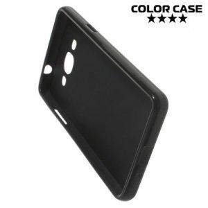 Силиконовый чехол для Samsung Galaxy J3 Pro - Матовый Черный