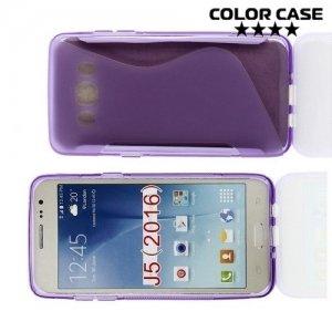 Силиконовый чехол для Samsung Galaxy J5 2016 SM-J510 - S-образный Фиолетовый
