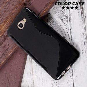Силиконовый чехол для Samsung Galaxy J5 Prime  - S-образный Черный
