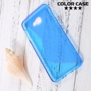 Силиконовый чехол для Samsung Galaxy J5 Prime  - S-образный Голубой