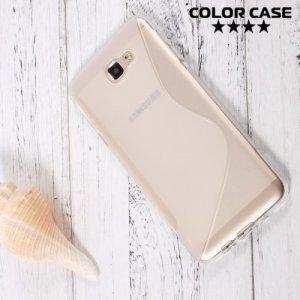 Силиконовый чехол для Samsung Galaxy J5 Prime  - S-образный Прозрачный