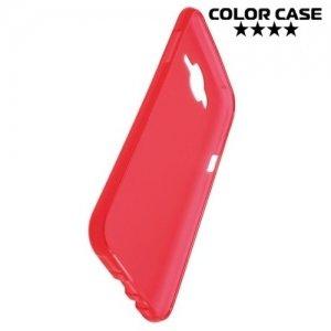Силиконовый чехол для Samsung Galaxy J7 - Матовый Красный