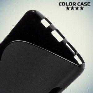 Силиконовый чехол для Samsung Galaxy Note 5 - S-образный Черный